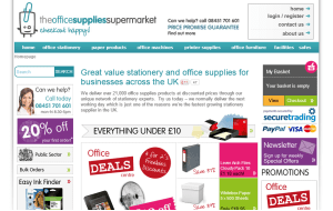 Preview 3 of the Office Supplies Supermarket website