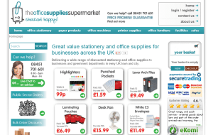 Preview 2 of the Office Supplies Supermarket website