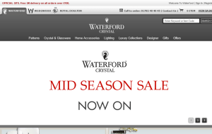 Preview 2 of the Waterford Crystal website