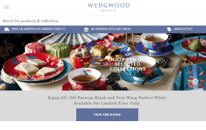Preview 2 of the Wedgwood website