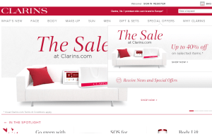 Preview 3 of the Clarins website