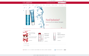 Preview 2 of the Clarins website