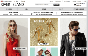 Preview 3 of the River Island website