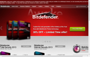 Preview 3 of the Bit Defender website