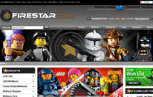 Preview 2 of the FireStar Toys website