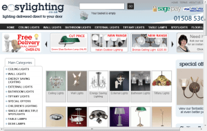 Preview 2 of the Easy Lighting website