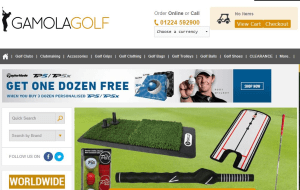 Preview 3 of the Gamola Golf website