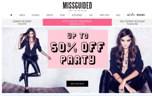 Preview 2 of the Missguided website