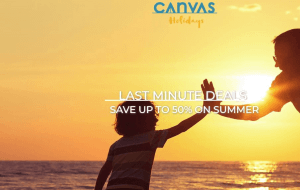 Preview 2 of the Canvas Holidays website