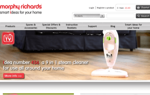Preview 3 of the Morphy Richards website