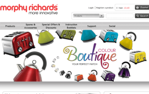 Preview 2 of the Morphy Richards website