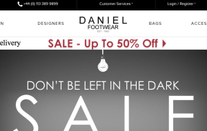Preview 4 of the Daniel Footwear website