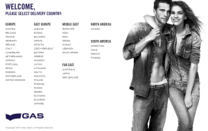 Preview 2 of the Gas Jeans website
