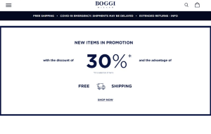 Preview 2 of the Boggi website