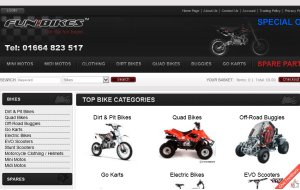 Preview 3 of the Fun Bikes website