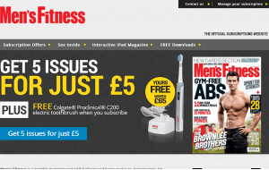 Preview 3 of the Mens Fitness Magazine website
