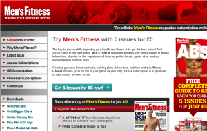 Preview 2 of the Mens Fitness Magazine website
