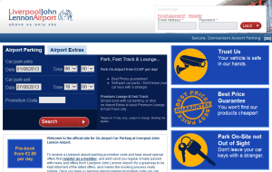 Preview 2 of the Liverpool Airport Parking website