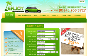 Preview 3 of the Enjoy Car Hire website