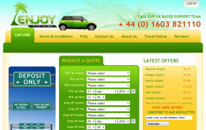 Preview 2 of the Enjoy Car Hire website