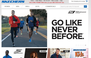 Preview 2 of the Skechers website