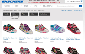 Preview 3 of the Skechers website
