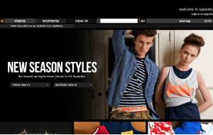 Preview 3 of the SuperDry website