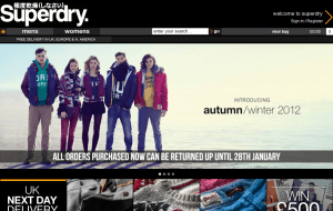 Preview 2 of the SuperDry website