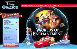 Preview 2 of the Disney On Ice website