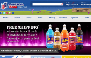 Preview 3 of the American Soda website