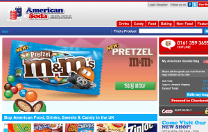 Preview 2 of the American Soda website