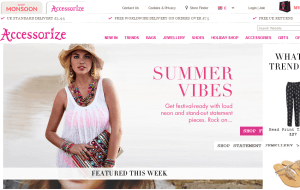 Preview 3 of the Accessorize website