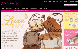 Preview 2 of the Accessorize website
