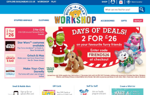 Preview 2 of the Build A Bear website
