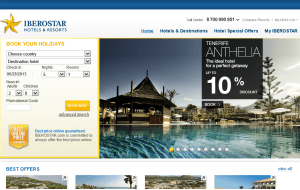 Preview 3 of the Iberostar Hotels & Resorts website