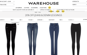 Preview 3 of the Warehouse website