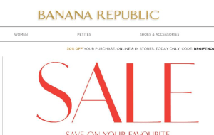Preview 3 of the Banana Republic website
