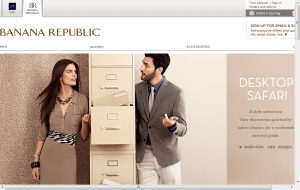 Preview 2 of the Banana Republic website