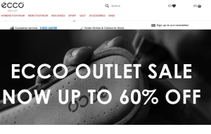 Preview 4 of the Ecco Shoes website