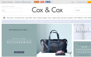 Preview 3 of the Cox & Cox website