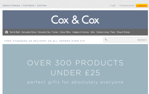 Preview 2 of the Cox & Cox website