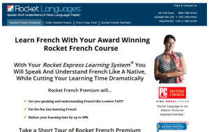 Preview 2 of the Rocket French website