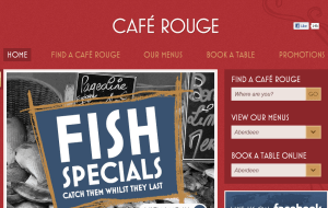 Preview 2 of the Cafe Rouge website