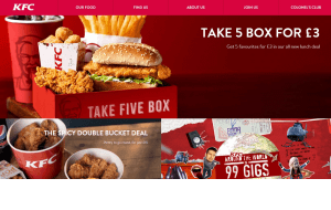 Preview 2 of the KFC website