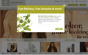 Preview 2 of the Aveda website