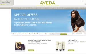 Preview 3 of the Aveda website