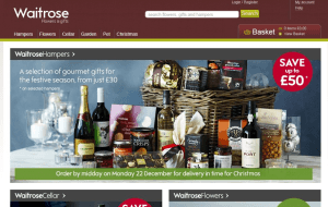 Preview 2 of the Waitrose Flowers website