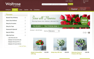Preview 3 of the Waitrose Flowers website
