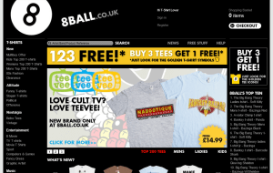 Preview 2 of the 8 Ball T-Shirts website