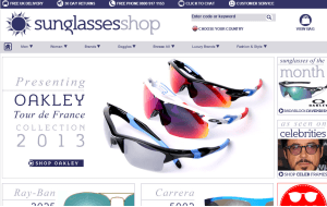 Preview 3 of the Sunglasses Shop website